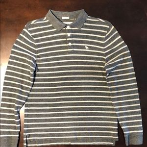 Long sleeve Abercrombie and Fitch polo.